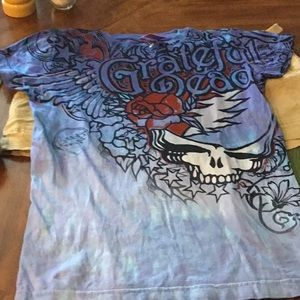 Grateful Dead Liquid. Blue Tee Shirt